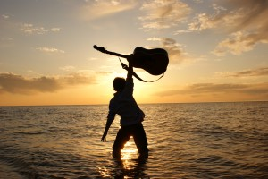 Guitar Sunset Beach